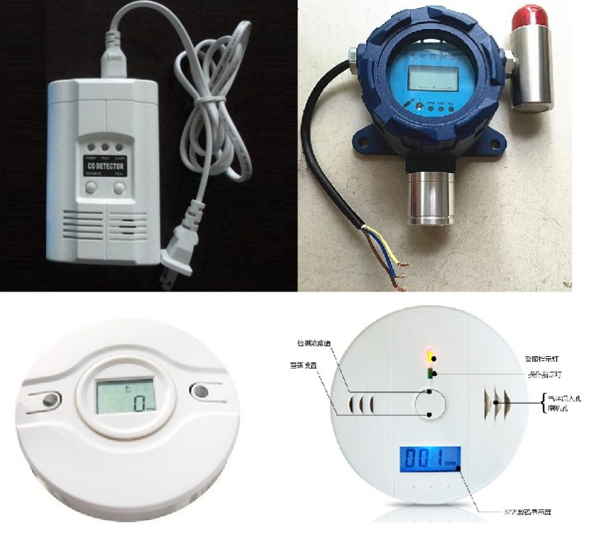 types of carbon monoxide monitor device